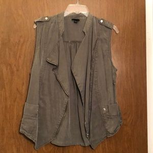 Army Green asymmetrical vest